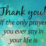 Thank You As Prayer