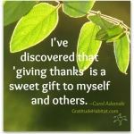 Giving Thanks Is A Sweet Gift