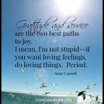 Gratitude And Service