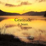 Gratitude Is Peace
