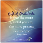 The Real Gift of Gratitude