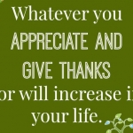 Appreciate And Give Thanks