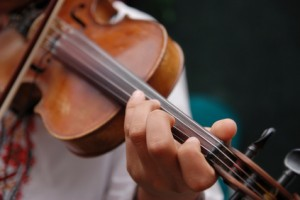 Musician playing the violin