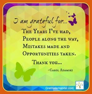 I am grateful for2