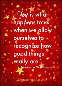 Joy is what happens