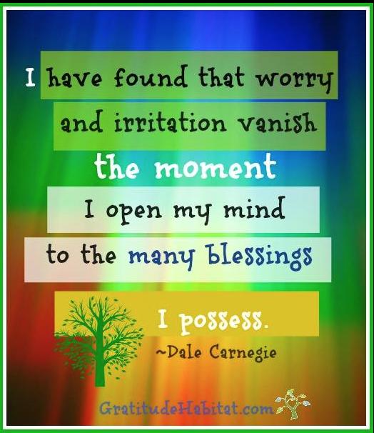 Worry & Irritation vanish