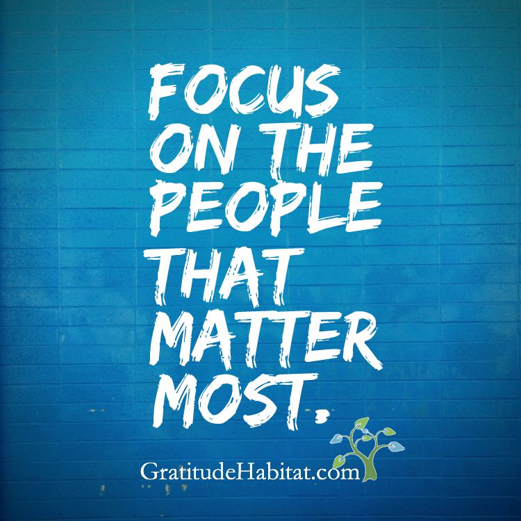 Focus On The People