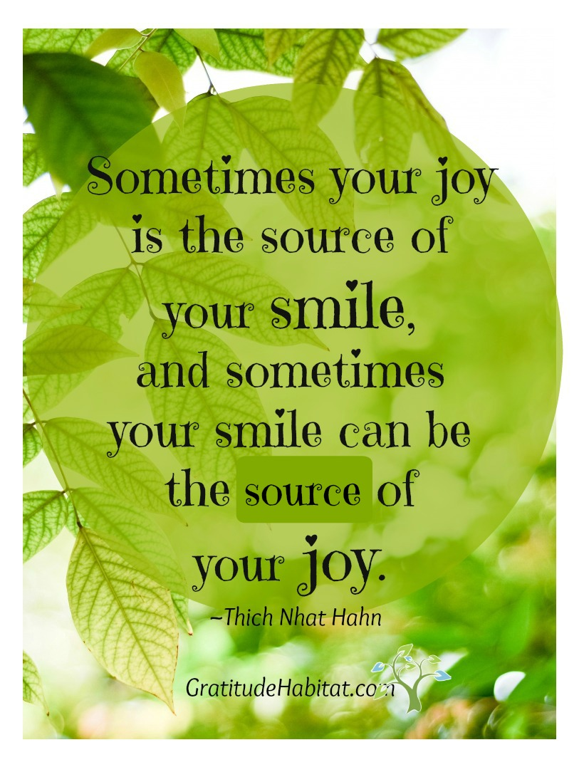 Sometimes your smile