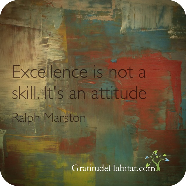 Excellence is an attitude with logo