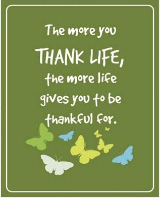 Thank life print