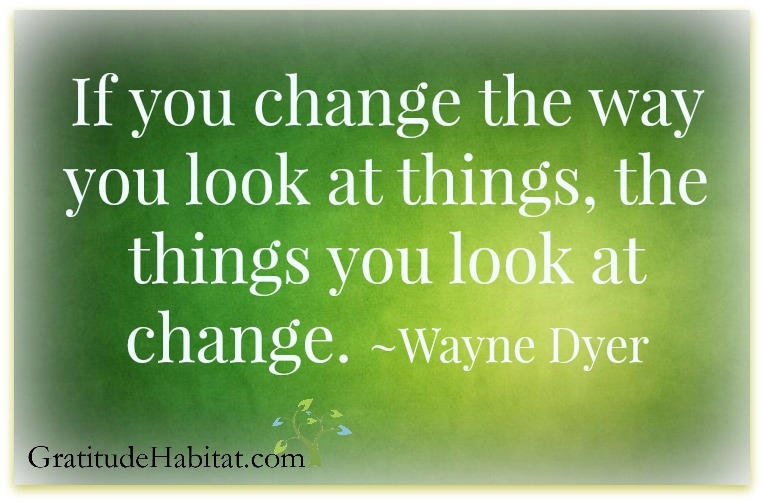 Change the way you look at things Wayne Dyer logo